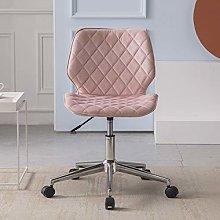 Hironpal Velvet Office Desk Chair Thick Padded