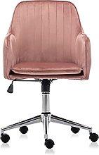 Hironpal Vlof Velvet Desk Chair, Swivel Office