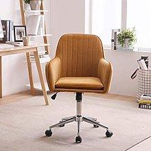 Hironpal Yellow Velvet Home Office Chair Ergonomic