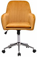 Hironpal Yellow Velvet Office Chair Ergonomic Desk
