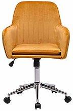 Hironpal Yellow Velvet Office Chair Ergonomic Desk