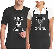 His And Hers Couples Aprons Funny Aprons King Of