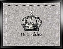 His Lordship Faux 4 Black: Quality Cushioned Bean