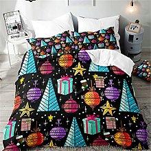 Hiseng Christmas Duvet Cover Sets, 3 Pieces