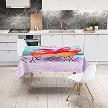 Hiseng Tablecloths Rectangular Large Wipe Clean