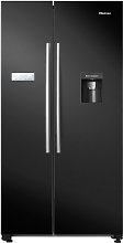 Hisense RS741N4WB11 American Fridge Freezer - Black