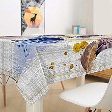 Hiser Tablecloth Waterproof Rectangle, Rectangular