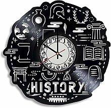 History Teacher Vinyl Wall Clock Retro Vinyl