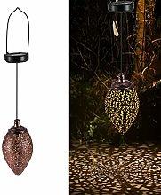 HITECHLIFE Solar Lantern Outdoor Garden,Retro