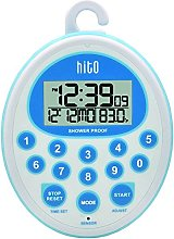 HITO Waterproof Shower Clock Timer w/Alarm Date