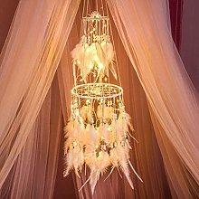 HitTopss Light Up Dream Catcher Decoration Warm