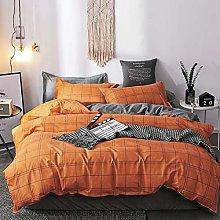 Hixonair Grid Duvet Cover Set Simple Quilt Cover