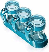HIZLJJ Glass Transparent Spice Jar Seasoning Box