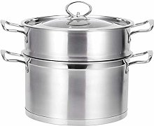 HIZLJJ Household 304 Stainless Steel Steamer,