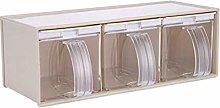HIZLJJ Kitchen Seasoning Box Set - 3 Separate