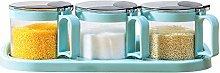 HIZLJJ Mini Clear Glass Spice Jar Container Set