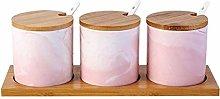 HIZLJJ Spice Jars Ceramics Marble Pattern Sugar