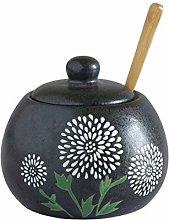HIZLJJ Spice Jars, Vintage Hand-Painted Ceramic