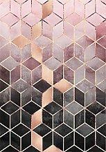 HJFGIRL Rug-Modern Fashion Rose Gold Pink Gradient