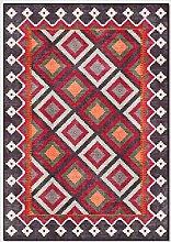 HJFGIRL Vintage Rug Fashion Geometry Bohemia Area