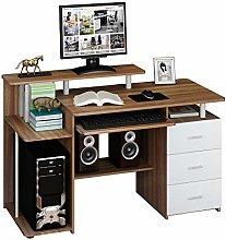hjh OFFICE 673953 computer table STELLA walnut