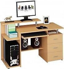 hjh OFFICE 673954 computer table STELLA beech desk