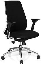 hjh OFFICE AVATOR Black/White Fabric Swivel Chair