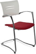 HJH Office Elégance 707421 Chair with Padded Red