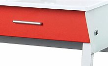 hjh OFFICE Front Panels for Mira Desk - Red