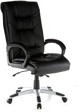 hjh OFFICE Table, Leather, Black