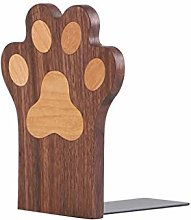HJHJ bookend supports Solid Wood Bookends Cat Paw