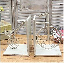 HJHJ bookend supports White Metal Book End Book