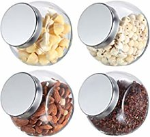 HJHJ Glass Candy Jar Cookie Jar With Stainless