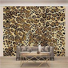 HJKGSX Wallpaper PVC Retro 3D Leopard Print