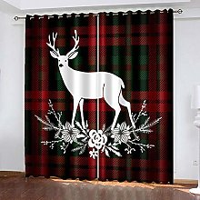 HJLXDP Blackout Curtain for Bedroom Lattice,