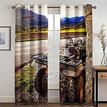 HJLXDP Blackout Curtain for Bedroom Mountains,