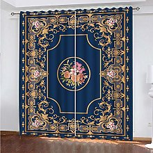 HJLXDP Blackout Curtains Retro, classic, pattern