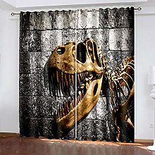 HJLXDP Blackout Curtains Vintage, animal, fossil