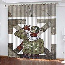 HJLXDP Curtain for Living Room Singer, boy, art