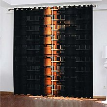 HJLXDP Curtain for Living Room Tall buildings,