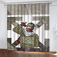 HJLXDP curtains for bedroom eyelet Singer, boy,