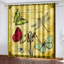 HJLXDP curtains for bedroom Retro, letters,