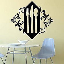 Hjnsxs Modern Knife And Fork Vinyl Wall Sticker