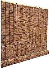 HJRD Carbonization Natural Reed Curtain,Roller