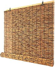 HJRD Natural Reed Screen Curtain, Blackout Outdoor