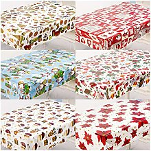 HJW Durable Tablecloth 6Pcs Assorted Disposable