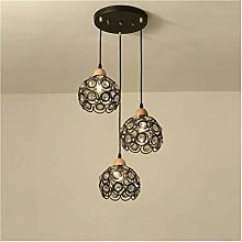 HJW E27 Chandelier Nordic Personality Wrought Iron