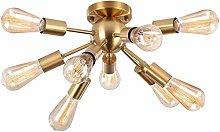 HJW Modern Sputnik Ceiling Lights, Mid Chandelier