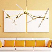 HJW Modern Sputnik Chandelier 10 Lights Vintage