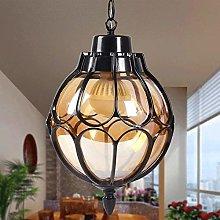 HJW Practical Lighting Black Farmhouse Pendant